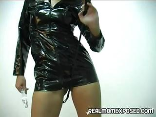 mother i clothed in leather gives a show with her