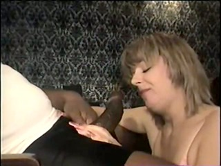 swinger wife eating the big black dick - homemade