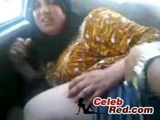 aged arab hijab drilled in car mature,arab hijab