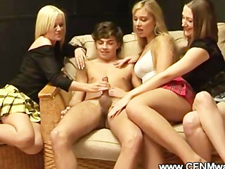 cfnm mature ladies jerking a young ramrod