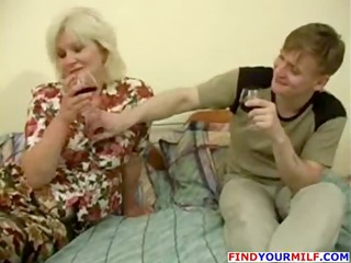 drunk milf seduced by juvenile man