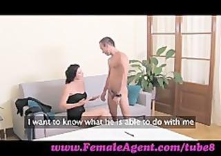 femaleagent. fellow cums to command