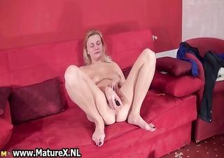 obscene old slut fucking hard her large