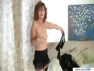 hot older mamma takes off her clothes to acquire