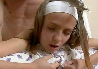 lustful teen enjoys mature weenie