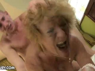 milf gets her hairy love tunnel stuffed by a