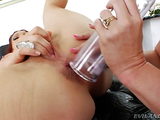 mature anal strapons and anal prolapse pumping
