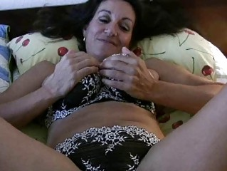 black haired breasty mother i in sexy underware
