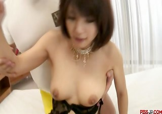double load in mouth for azumi harusaki after