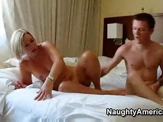 sexy older blonde milf hawt suz fucks her sons