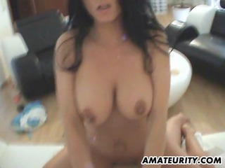 hot amateur breasty mother i fucked in her living