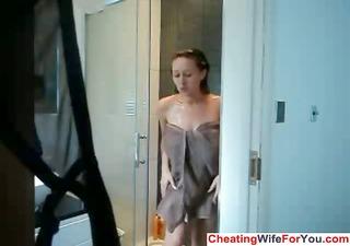 british bbw masturbates in the shower