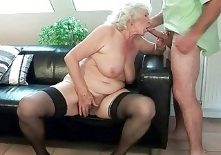 busty granny acquires her curly twat fucked