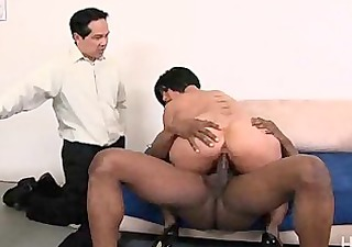 cuckold hubby watches her take large darksome cock