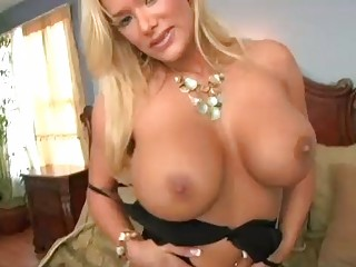 enormous chested golden-haired momma in black