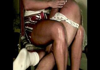 sissy spanked in his panties by mom