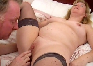aged woman gets licked and fucked