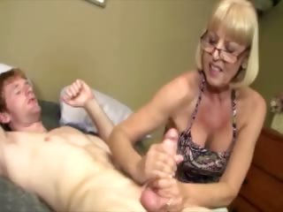 giving granny is giving a cock massage