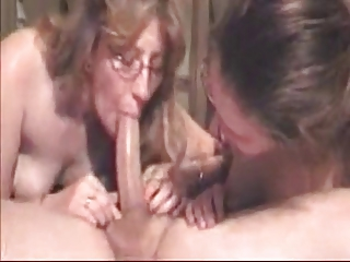 lucky guy acquires deepthroated by his wife and
