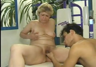 granny bonks in the gym