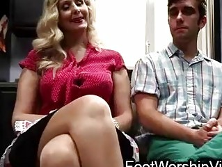 chap bonks and licks feet on milf