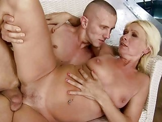sexy granny fucking with her youthful boyfriend