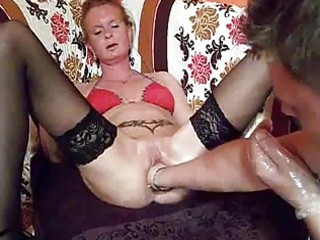 fist fucking the wifes biggest pussy untill she