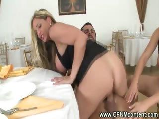 cfnm milfs have a knob riding fuckfest